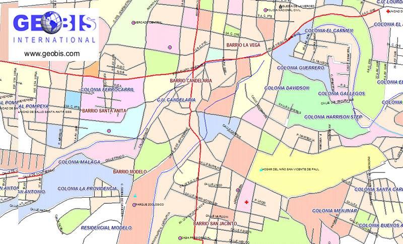 El Salvador Digital Maps Demographics Geobis Net - Cities map el salvador map